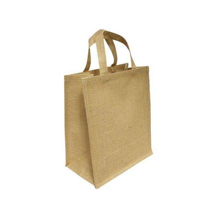 Промо сумка из джута вертикальная