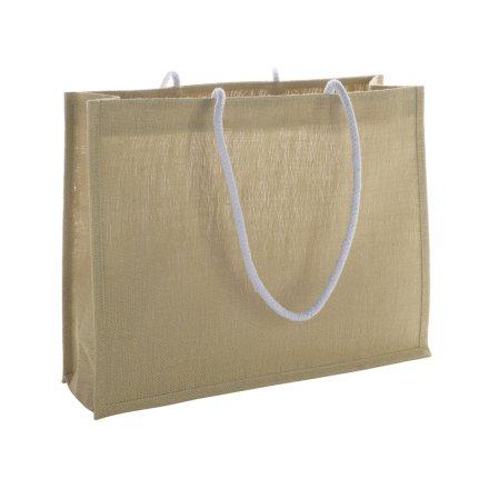 Промо сумка из джута с ручками из шнура