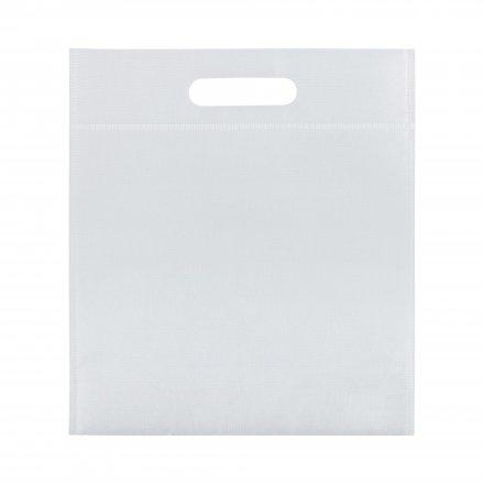 Промо сумка из спанбонда простая, 21х29 см, белая
