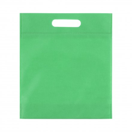 Промо сумка из спанбонда простая, 21х29 см, зеленая