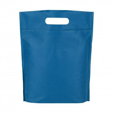 Промо сумка из спанбонда простая, 21х29 см, синяя