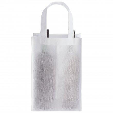 Промо сумка из спанбонда для двух бутылок, белая