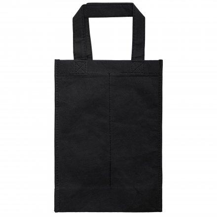 Промо сумка из спанбонда для двух бутылок, черная
