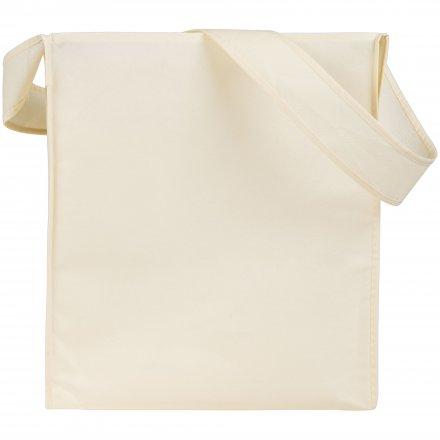 Промо сумка из спанбонда на плечо, белая