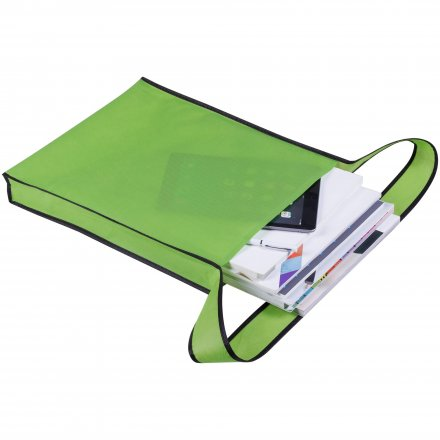 Промо сумка из спанбонда на плечо, зеленая