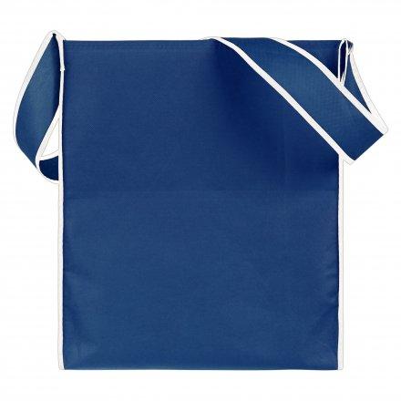 Промо сумка из спанбонда на плечо, синяя