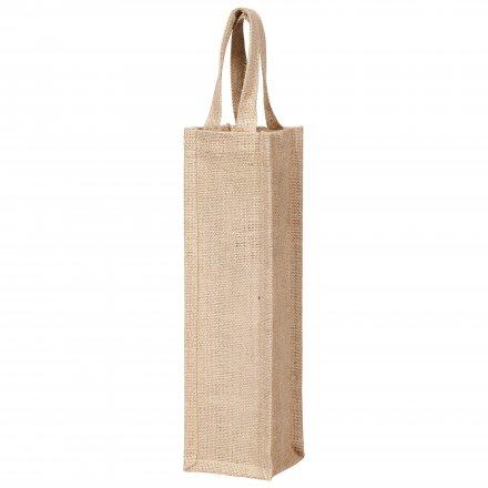 Джутовая сумка-чехол для бутылки