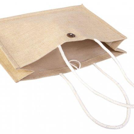 Джутовая сумка на плечо