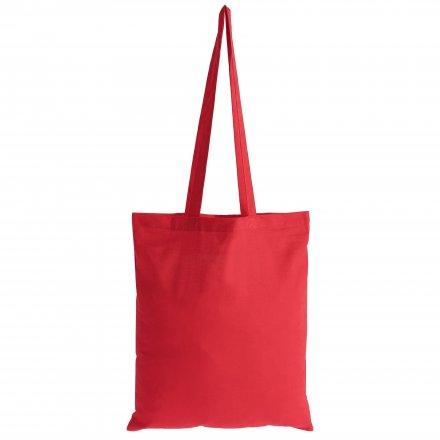 Промо сумка из хлопка с ручками, красная