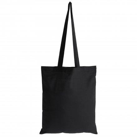 Промо сумка из хлопка с ручками, черная
