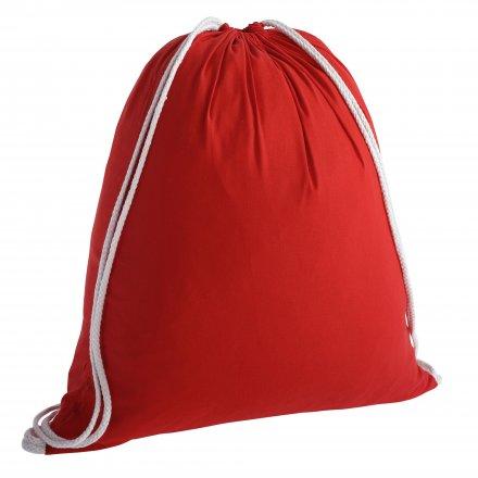 Промо рюкзак из хлопка, красный