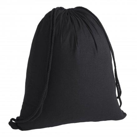 Промо рюкзак из хлопка, черный