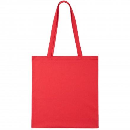 Промо сумка из хлопка с ручками, красная, 41х44 см