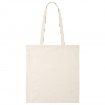 Промо сумка из хлопка с ручками, неокрашенная, 41х44 см