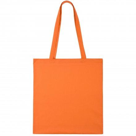 Промо сумка из хлопка с ручками, оранжевая, 41х44 см