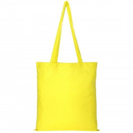 Промо сумка из хлопка с ручками, желтая, 41х44 см