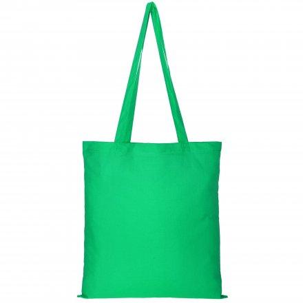 Промо сумка из хлопка с ручками, зеленая, 41х44 см
