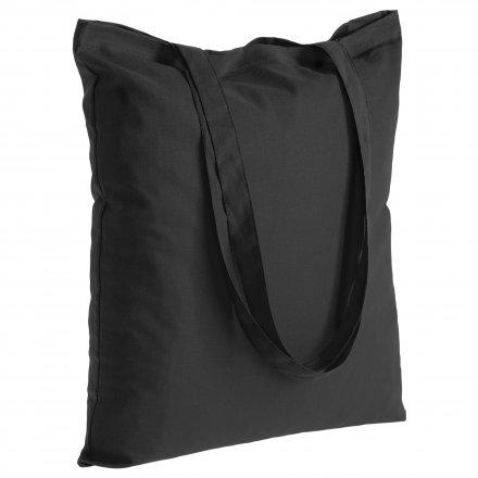 Промо сумка из хлопка с ручками, черная, 41х44 см