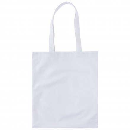 Промо сумка из хлопка, простая, белая