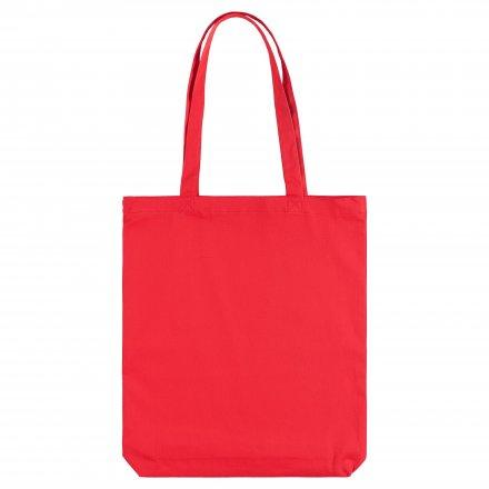 Промо сумка из хлопка с ручками 210, красная