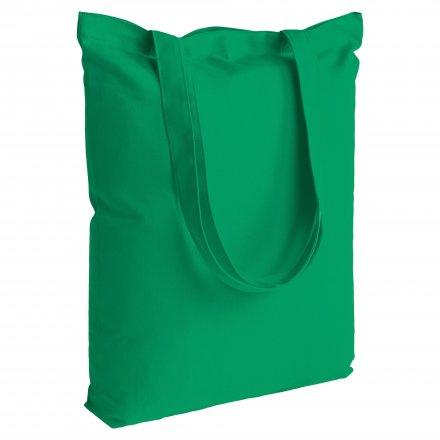 Промо сумка из хлопка с ручками 210, зеленая