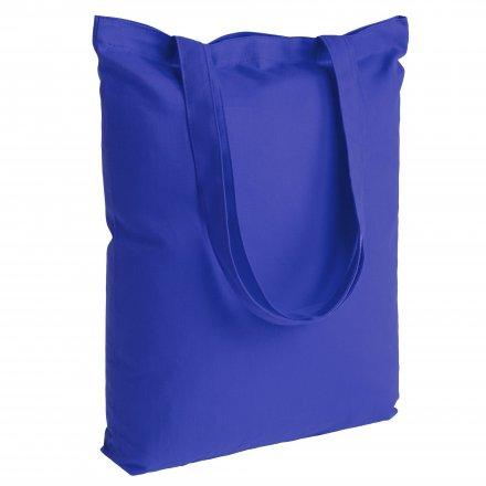 Промо сумка из хлопка с ручками 210, синяя