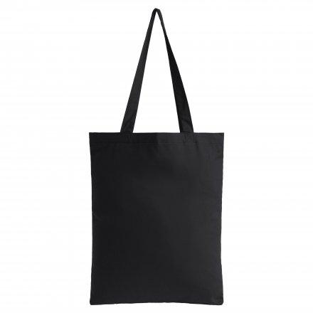 Промо сумка из хлопка с ручками 210, черная