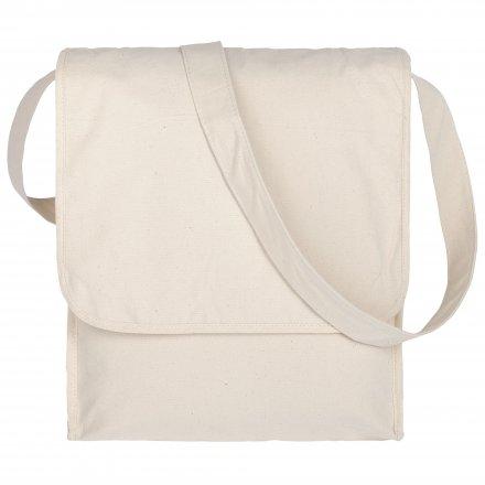 Конференц-сумка из хлопка на плечо, неокрашенная