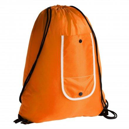 Промо рюкзак складной из оксфорда 210d, оранжевый