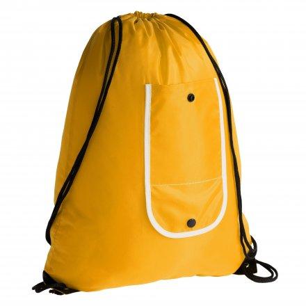 Промо рюкзак складной из оксфорда 210d, жёлтый