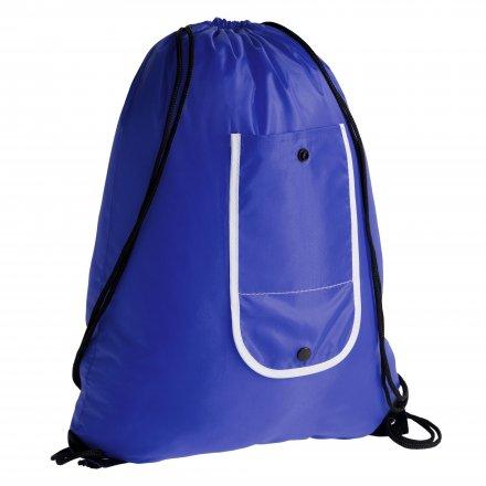 Промо рюкзак складной из оксфорда 210d, синий