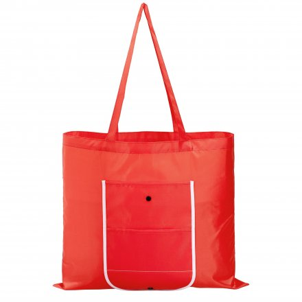 Складная большая промо сумка из оксфорда 210d, красная