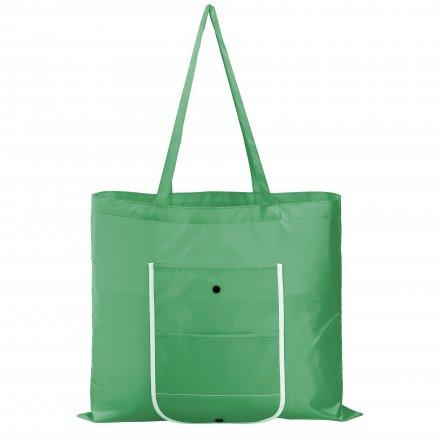 Складная большая промо сумка из оксфорда 210d, зеленая
