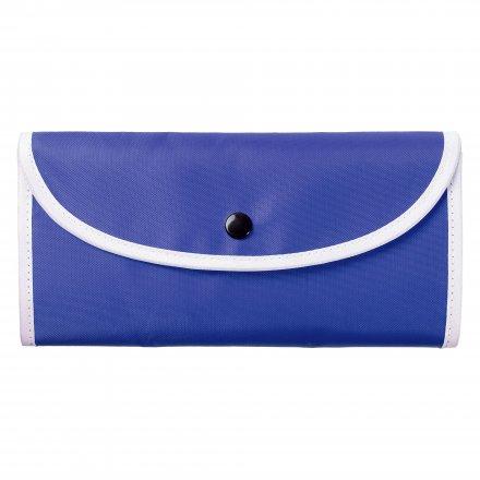 Складная большая промо сумка из оксфорда 210d, синяя