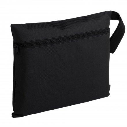 Конференц-сумка с боковой ручкой-петлей, черная
