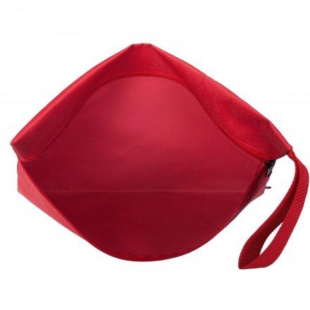 Конференц-сумка с боковой ручкой-петлей, красная
