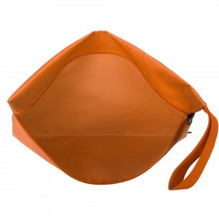 Конференц-сумка с боковой ручкой-петлей, оранжевая