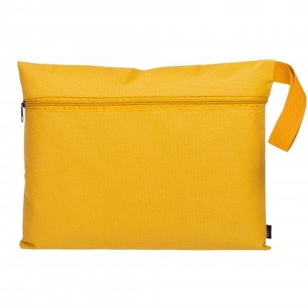 Конференц-сумка с боковой ручкой-петлей, жёлтая