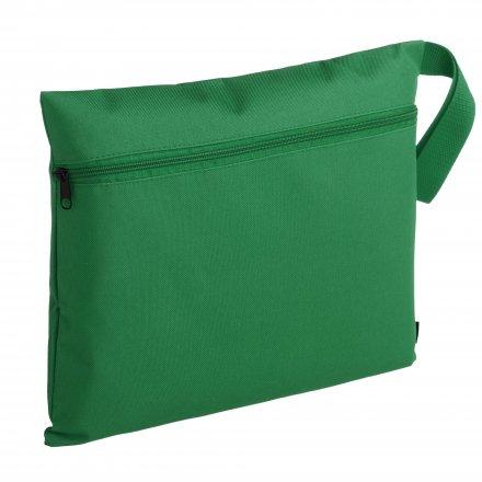 Конференц-сумка с боковой ручкой-петлей, зелёная