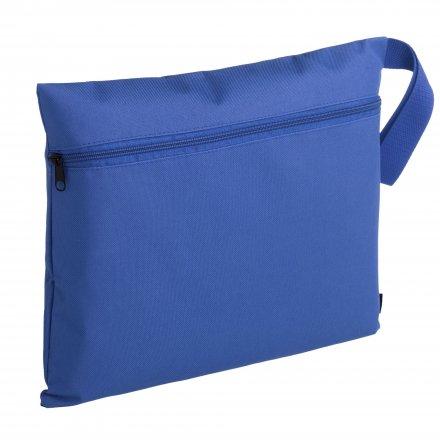 Конференц-сумка с боковой ручкой-петлей, ярко-синяя