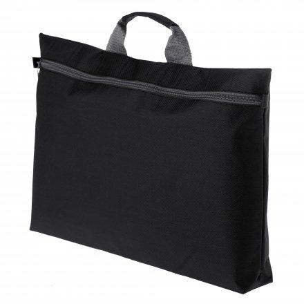 Конференц-сумка с ручкой из оксфорда 600D, чёрная