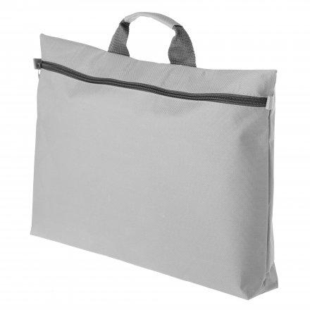 Конференц-сумка с ручкой из оксфорда 600D, серая