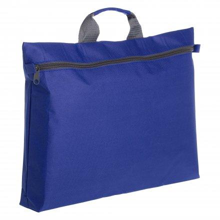 Конференц-сумка с ручкой из оксфорда 600D, синяя