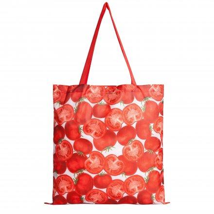 Складная сумка для покупок из оксфорда 210D, томат