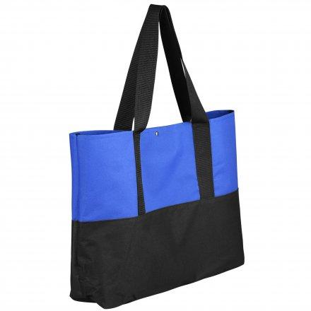 Промо сумка для покупок из оксфорда 600D, синяя с черным