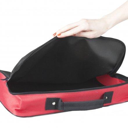 Конференц-сумка из оксфорда 600D College, красная с черным