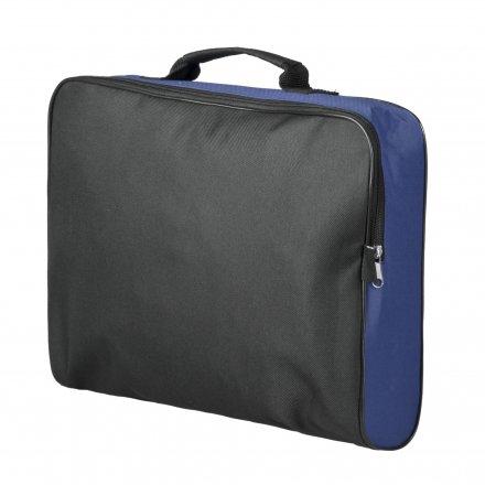Конференц-сумка из оксфорда 600D College, синяя с черным