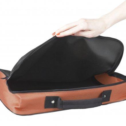 Конференц-сумка из оксфорда 600D College, оранжевая с черным