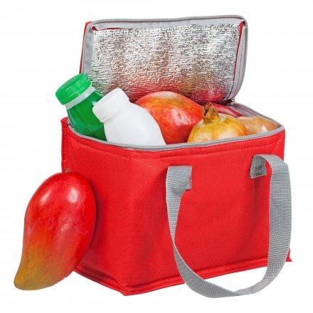 Сумка-холодильник для 6 банок из оксфорда 600D, красный