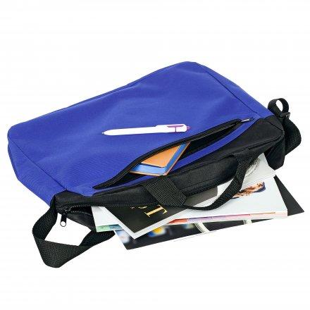 Конференц-сумка из оксфорда 600D, синяя с черым